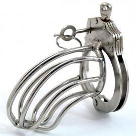 Cage de chasteté métal Lancelot menotte