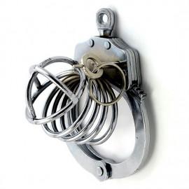 Cage de chasteté metal erection impossible