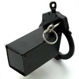 Cage de chasteté metal noir tube carré