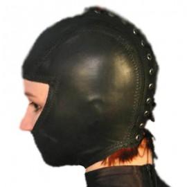 Cagoule BDSM femme en cuir