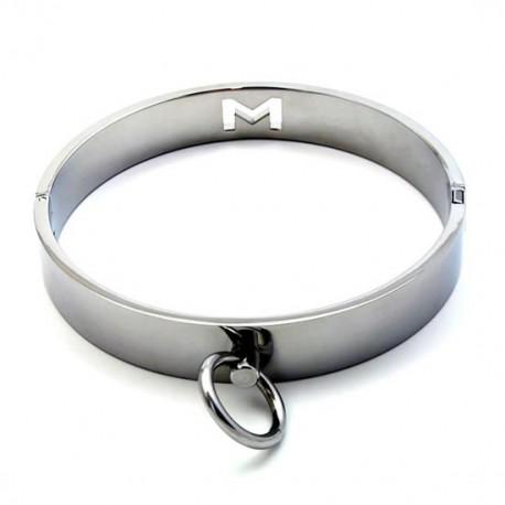 Collier metal unisexe chrome
