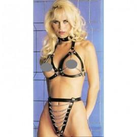 Bikini avec chainettes en cuir sexy pour femme