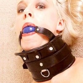 Collier minerve avec ball gag