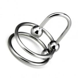 Tige d'urètre double anneau sperme stop