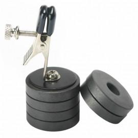 Pince téton avec poids magnétique