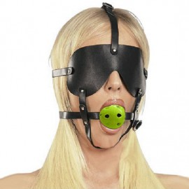 Ball gag harnais cache yeux