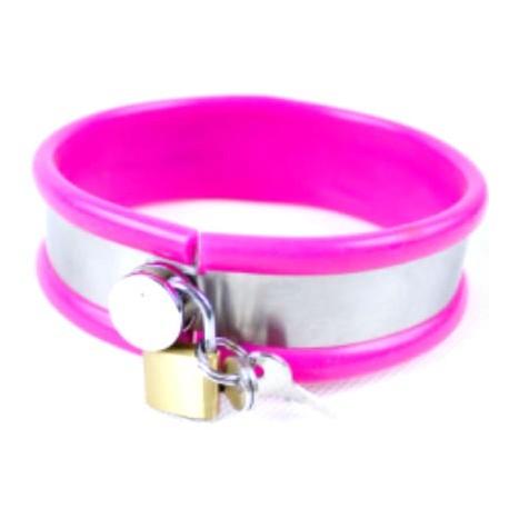 Laisse et collier pink de soumission