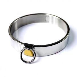 Collier de soumission unisex en metal à fermeture cadenas