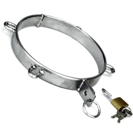 Collier de soumission en metal avec 4 D-ring