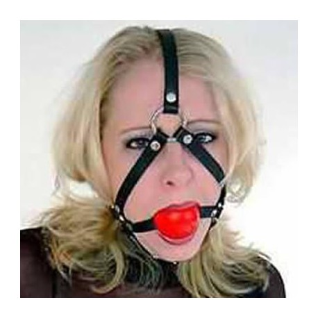 Harnais ball gag rouge