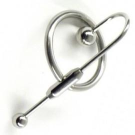 Tige d'uretre double boules avec stop sperme