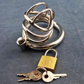 Micro cage de chasteté en métal