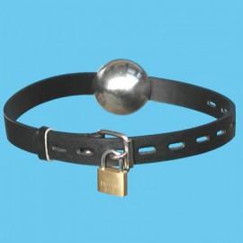 Ball gag acier avec cadenas