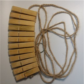 Kit bondage stimulation avec 12 pinces en bambou
