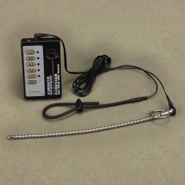 Electro sexe avec 1 anneau et un tige d'uretre