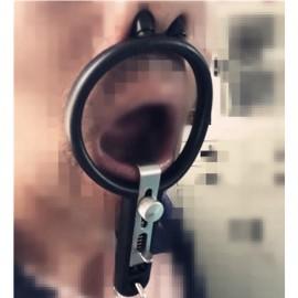 Bondage torture ouverture bouche oral sexe