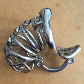 Cage de chatete acier avec nouveau systeme de fermeture sans cadenas