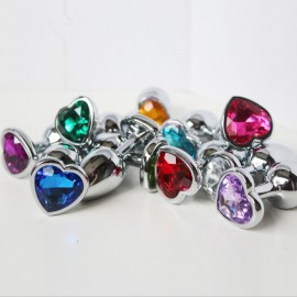Rosebud bijou anal forme coeur taille XL