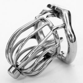 Cage de chasteté nouveau design avec tige urétrale en acier inoxydable