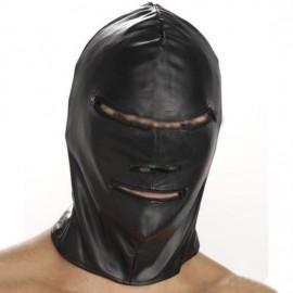 Cagoule BDSM similicuir de bourreau