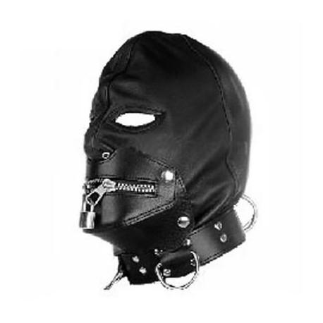 Cagoule gothik avec zip et cadenas