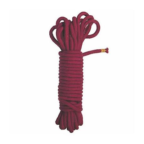 Corde de bondage en coton rouge
