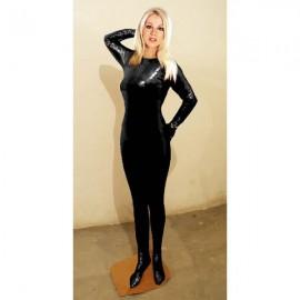Catsuit unisexe half body noir