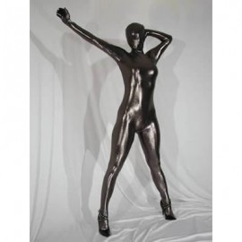 Catsuit complet unisexe full body noir