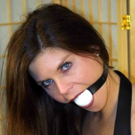 Fire ball gag blanc