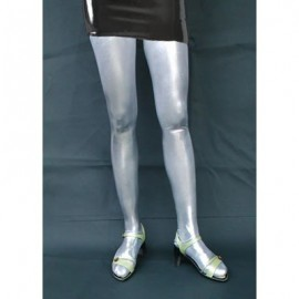 Bas shiny Lycra gris