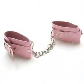 Menotte de poignets double couche premium à chaine pink