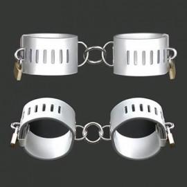 Mini menotte de poignet en cuir silver
