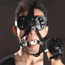 Harnais gag avec cache yeux détachable